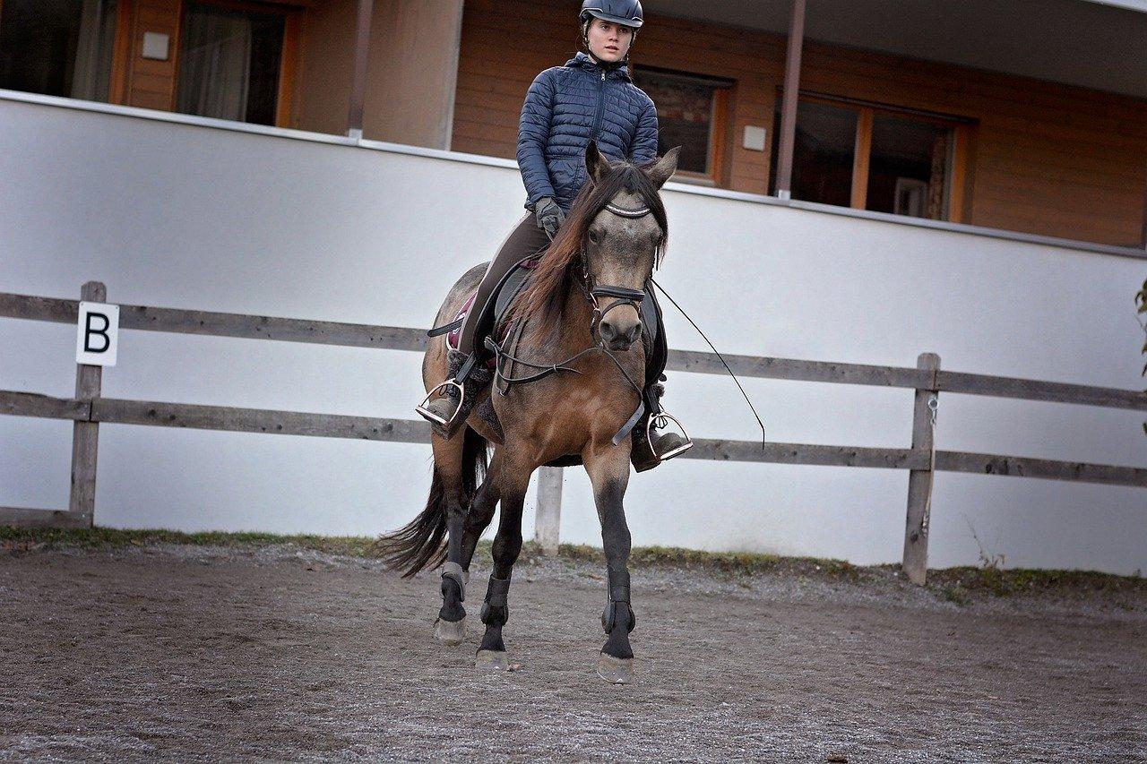 Paardrij instructrice